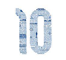 Wayne Rooney Typographic Poster England  by Ingleburt