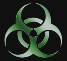 Biohazard Symbol Sign - Acid Green - Metallic by graphix