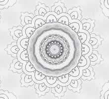 Graphite Mandala by shellrose