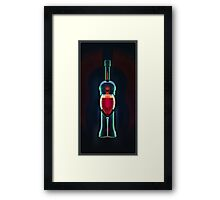 Glass of red Framed Print