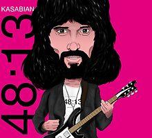 Sergio Pizzorno - Kasabian - Caricature by monkeycircusart
