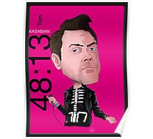 Tom Meighan - Kasabian - Caricature Poster