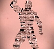 WWE The Rock Typography  by Ingleburt