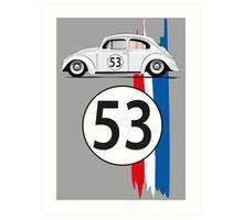 VW Beetle Herbie Art Print