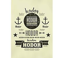 Hipster Hodor  Photographic Print