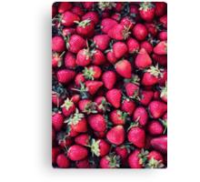 Summer Strawberries Canvas Print