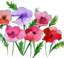 Poppies Amapolas by JoAnnFineArt