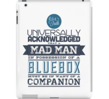 A Mad Man in Possession of a Blue Box iPad Case/Skin