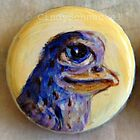 Bottle Cap Bird 1 by Cindy Schnackel