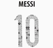 Lionel Messi Typographic Black Argentina T-Shirt