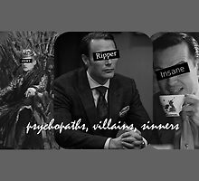 Psychopaths, villains, sinners by cumberbitchhaha
