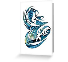 Surfing Time Greeting Card