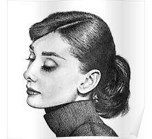 Audrey Hepburn Stippling Portrait Poster