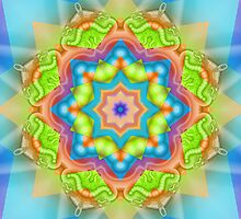 The Candy Star Kaleidoscope by walstraasart