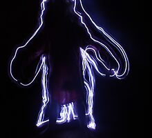 Light Art Person by Lucie Jayne Bates