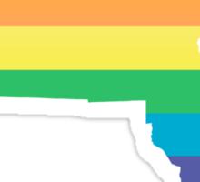 rainbow massachusetts Sticker