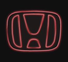 neon Honda Badge by cloutierjade54