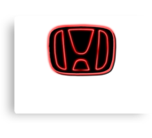 neon Honda Badge Canvas Print