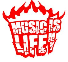 Music is my life fire flame burning by Style-O-Mat