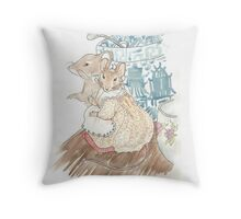 The Mice Listen to the Tailor's Lament Throw Pillow