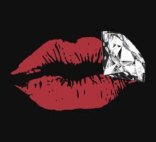 Lips with diamond by mlmatov