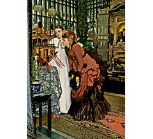 Young Ladies Look at Japanese Art Photographic Print