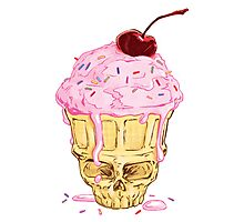 Skullcone Icecreamforbrains Photographic Print