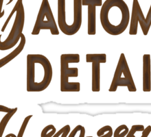 Biff's Automotive Detailing Sticker