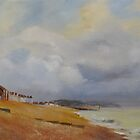 Coming storm on the bay of Hythe by Beatrice Cloake