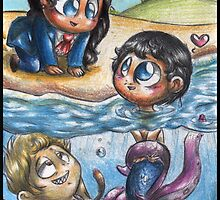Hannibal AU - The Sea Trio by Furiarossa