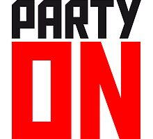 Party On Logo by Style-O-Mat