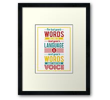 Next Year's Words Framed Print
