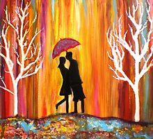 Romance in the Rain by mkanvinde