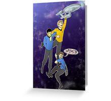 Boldly Go - Star Trek Triumvirate Greeting Card