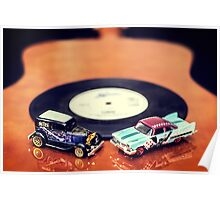 Blues and Rock Cars Poster