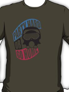 Party Hard or Go Home Logo Design T-Shirt