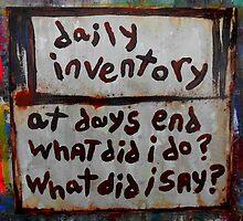 daily inventory by songsforseba