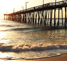 Ocean Pier at Sunrise, Nags Head, North Carolina by Roupen  Baker