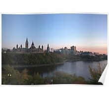 City skyline at dusk - Ottawa, Canada Poster