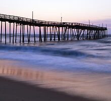 Avon Fishing Pier and Atlantic Ocean at Dawn by Roupen  Baker