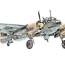 Junkers Ju 88 Bomber Airplane by surgedesigns