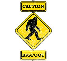 Distressed Caution Bigfoot by kwg2200