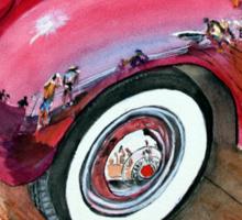 Reflections on a 38 Packard fender - San Clemente Pier,Ca Sticker