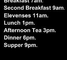 Hobbit Meal Times by missgallifreyan