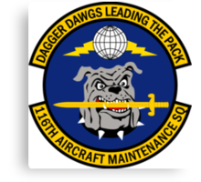 116th Aircraft Maintenance Squadron - Dagger Dawgs Leading The Pack Canvas Print