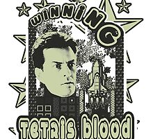 game boy tetris blood charlie sheen winning  by colioni