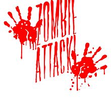 Zombie Horde attack blood handprint by Style-O-Mat