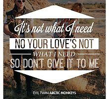"Arctic Monkeys ""Evil Twin"" by Kenzie Cameron"