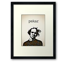 Icons - Harvey Pekar Framed Print
