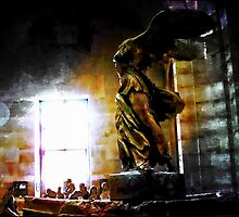 Winged Victory Of Samothrace At The Louvre Paris by Ian Mooney